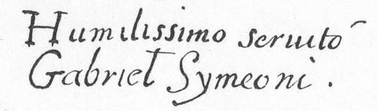 signature Symeoni, in Defrance, 1911, p.197