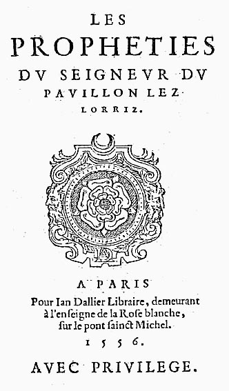 Couillard, Propheties, Dallier, 1556