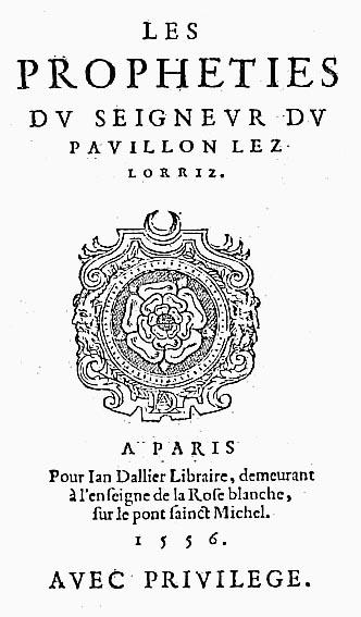 Couillard, Propheties, Dallier, 1556