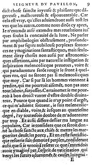 Couillard, Propheties, Le Clerc, 1556, f.E1r