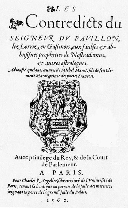 Couillard, Contredicts, Charles l'Angelier, 1560