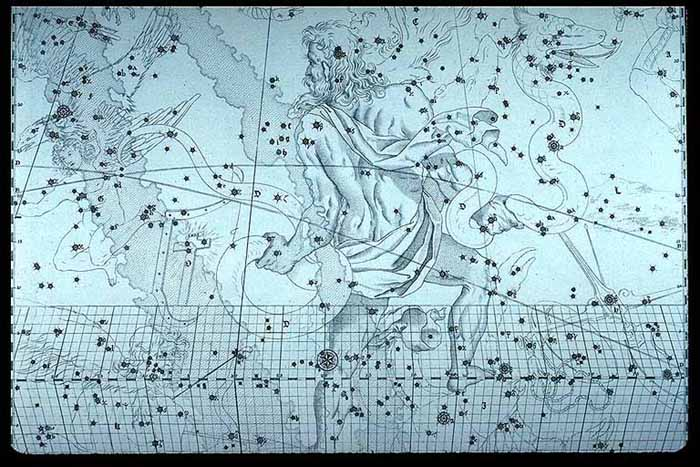 Constellation snakebearer (Ophiuchus)